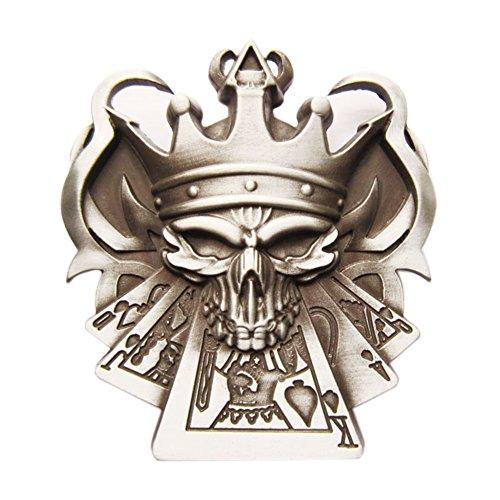 [Emo Skull Royal Flush Poker Casino Vintage Belt Buckle Gurtelschnalle] (Emo Belt)