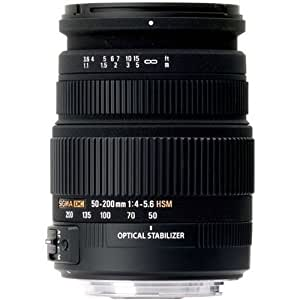 Sigma 50-200mm F/4-5.6 DC OS HSM Zoom Lens for Canon Digital SLR Camera with APS C Sensors