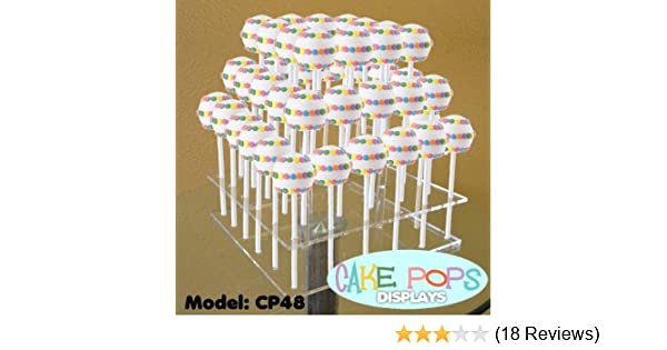 Cake Pop Stand Square Standard 16 Hole or Large 32 Hole Sizes Black