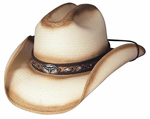 - Bullhide Montecarlo LITTLE BIG HORN Shantung Panama Western Hat xLarge, Natural