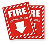 2-Pc Acceptable Unique Fire Extinguisher Window Stickers Signs - Best Reviews Guide