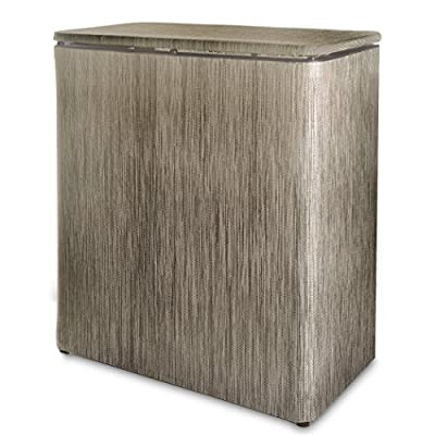 LaMont Home 75510117 Westbury Upright Hamper, Sage/Brown - Made in the U.S.A Hinged lid; color: Sage/Brown Spot clean, Made in Portugal - laundry-room, hampers-baskets, entryway-laundry-room - 51t2Q4WnG0L. SS400  -