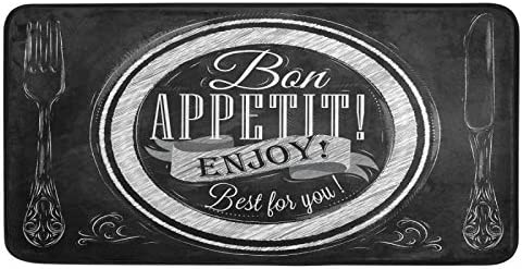 Bon Appetit Enjoy Best for You Kitchen Rugs Kitchen Mat Bath Rug Floor Door Mats Non Slip Doormat Soft Runner Carpet Home Decor 39 X 20 Inch