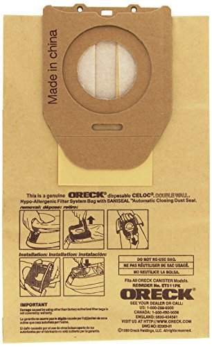 Oreck Commercial ET511PK Electriteck Bags (Pack of 5) - Household Shari