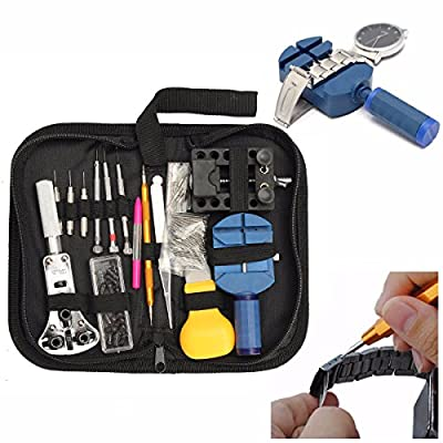 BABAN 144Pcs Watch Back Case Holder Opener Pin Link Remover Spring Bar Repair Tool Kit from BABAN