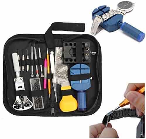BABAN 144Pcs Watch Back Case Holder Opener Pin Link Remover Spring Bar Repair Tool Kit