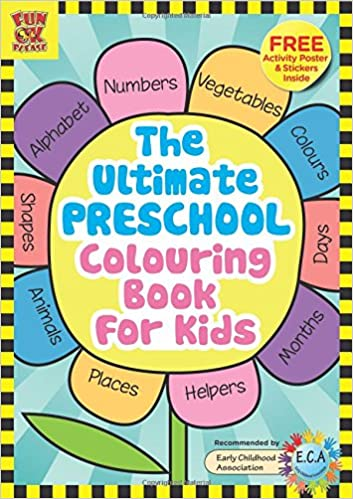 Buy The Ultimate Preschool Colouring Book for Kids: Add Colour ...