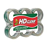 Duck HD Clear Heavy Duty Packing Tape Refill, 6 Rolls, 1.88 Inch x 54.6 Yard, (441962)