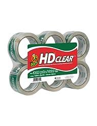 Duck HD Clear Heavy Duty Packaging Tape Refill, 6 Rolls, 1.88...
