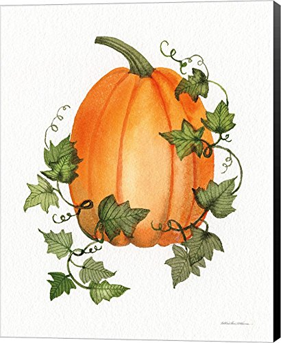 Pumpkin and Vines IV by Kathleen Parr McKenna Canvas