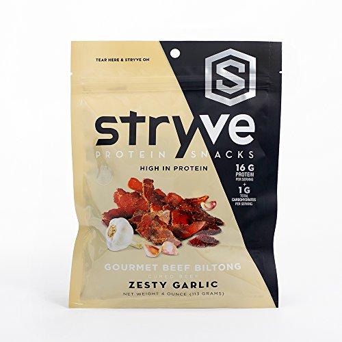 Stryve Foods – Gourmet Beef Protein Biltong Zesty Garlic