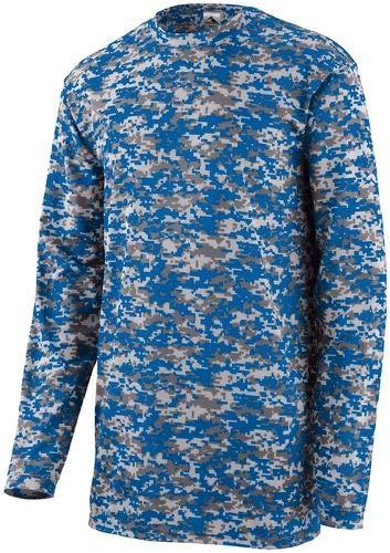 - Augusta Sportswear Digi Camo Wicking Long Sleeve T-Shirt M Royal Digi