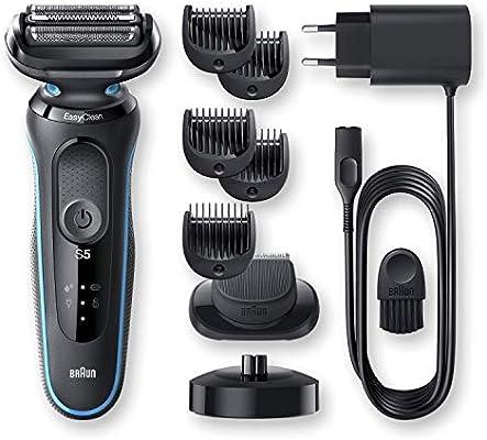 Braun Series 5 50-M4500cs Afeitadora Eléctrica, máquina de afeitar barba hombre de Lámina, Con Base De Carga, recortadora de barba, Uso En Seco Y Mojado, Recargable, Inalámbrica, Menta: Amazon.es: Salud y cuidado