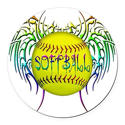 CafePress - Buffy Softball png Round Car Magnet - Round Car Magnet, Magnetic Bumper ()