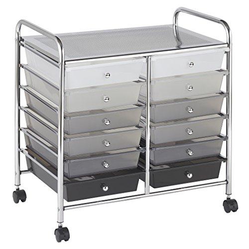 ECR4Kids 12-Drawer Mobile Organizer, 25.75