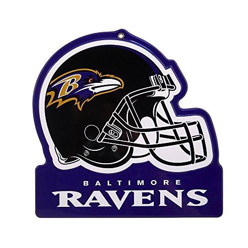 Party Animal Baltimore Ravens Embossed Metal NFL Helmet Sign, 8