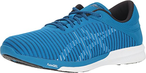 ASICS Mens fuzeX Rush Adapt Running Shoe, Race Blue/White, Size 12 (Best Asics For Underpronation)
