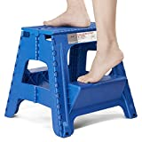 Acko 2-in-1 Dual Purpose Stool Two Step Ladder Durable Plastic Folding Stool with Pedal Easy Storage...