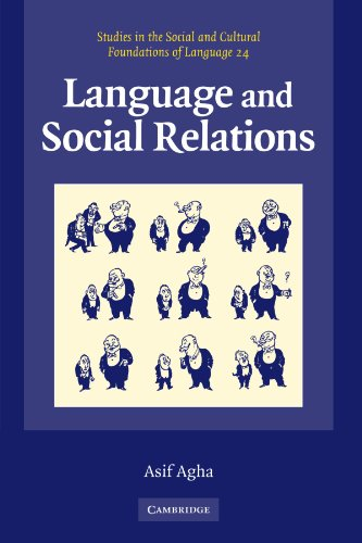 Language and Social Relations (Studies in the Social and Cultural Foundations of Language No. 24) by Brand: Cambridge University Press
