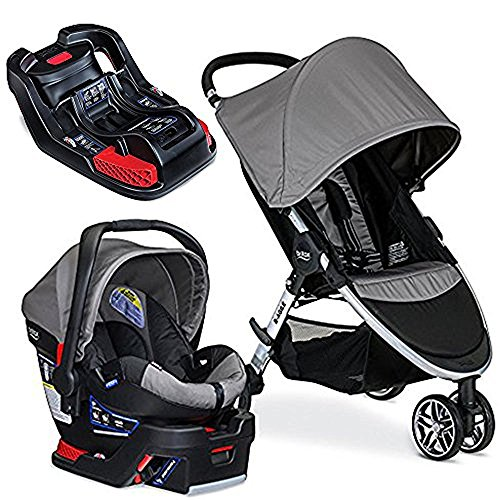 Britax 2017 B-Agile/B-Safe 35 Travel System & Extra Base, Steel