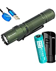 Olight M2R Pro Warrior 1800 Lumen Rechargeable Tactical Flashlight and Adjustable Hard Holster