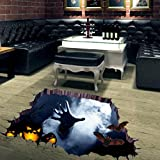 Highpot Scary Halloween Decoration Floor 3D Wall Sticker Removable (Small image)