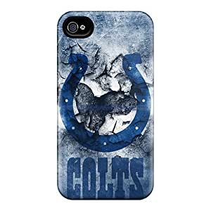 AlissaDubois Iphone 4/4s Shockproof Hard Phone Cases Provide Private Custom Trendy Indianapolis Colts Pattern [QgY11006jKKh]