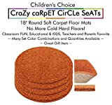 "Set 4 - Cheerful Kids CraZy CarPet CirCle SeaTs 18"" Round Soft Warm Floor Mat - Cushions 