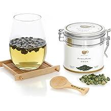 Best Leaf Tea - Jasmine Pearl Green Tea/ Top Quality Chinese Loose Leaf Tea 100 gram/ 3.5 OZ