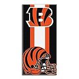 """Northwest NFL Cincinnati Bengals Zone Read 30""""x60"""" Black Beach Towel"""