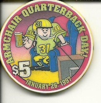 $5 opera house quarterback las vegas casino chip