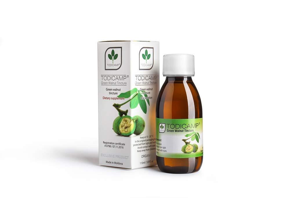 2 Bottles TODICAMP - Green Walnut Tincture 115 ml - Natural Walnut Extract - Non-GMO - Gluten and Sugar-Free