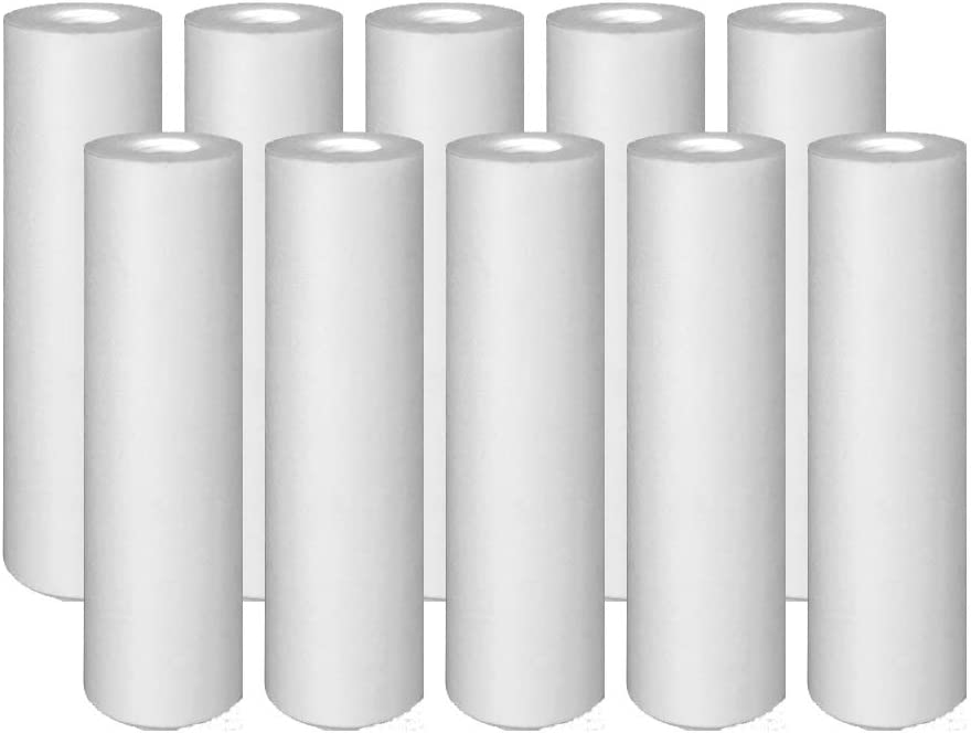 10-Pack Compatible for GE GXWH20S Polypropylene Sediment Filter - Universal 10-inch 5-Micron Cartridge for GE SINGLE SUMP WHOLE HOME FILTRATION SYSTEM by IPW Industries Inc.