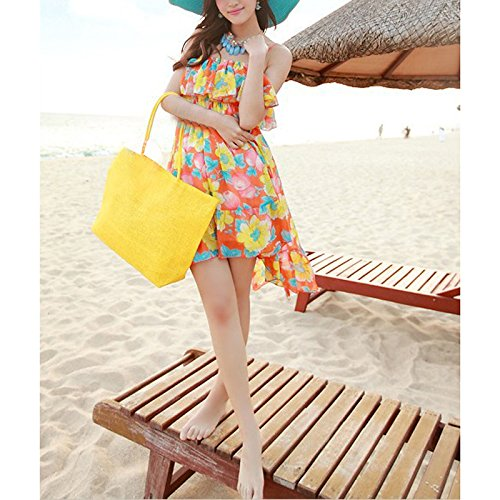 Casual Pt18 Single Large Summer Handbag Bag Beach Set Straw Raffia Abuyall Weave Women Shoulder Solid gTq6wwYx