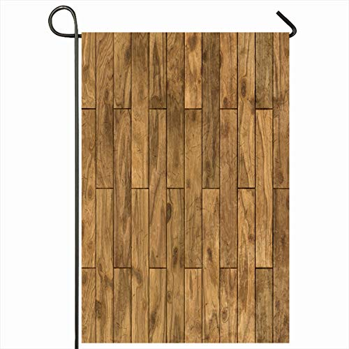 (Ahawoso Outdoor Garden Flag 12x18 Inches Parquet Walnut Brown Board Wooden Laminate Tile Seamlessly Abstract Closeup Cracked Detail Empty Seasonal Double Sides Home Decorative House Yard Sign)