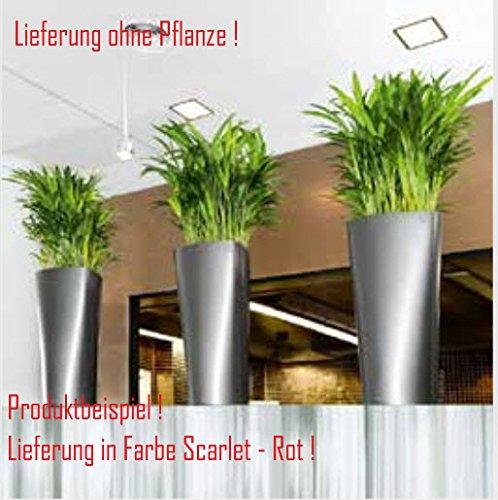 Blumenübertopf Delta Premium, sonnen-und regenbeständig für Innen und Außen, inklusive Bewässerungssystem, Farbe Rot, ca.Ø 30cm Höhe 56cm