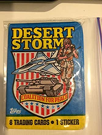 Desert Storm Coaltion for Peace Topps 1991 Collectible Trading Cards Complete Set 1 Through 88 Cards Are Hand Coallated and Come in a Hard Plastic Collectible Case in Mint to N/M condition!