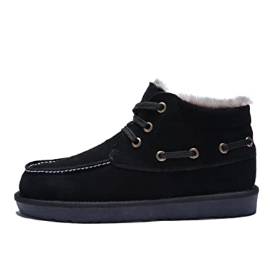Mens Lace-up Winter BootsCotton Padded Snow Boot For Men Anti-Slip Ankle Bootie