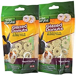 Wild Harvest Small Animal Treats, 2.2 Ounce (Glazed Donuts Pack of 2)