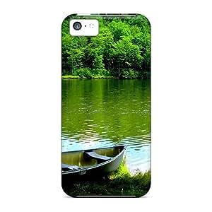 CeoOt4465GrUKA Shopfavor Green Lake Nature Landscape Durable Iphone 5c Tpu Flexible Soft Case