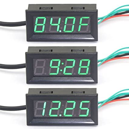 amazon com riorand fahrenheit f panel thermometer dc 12v rh amazon com