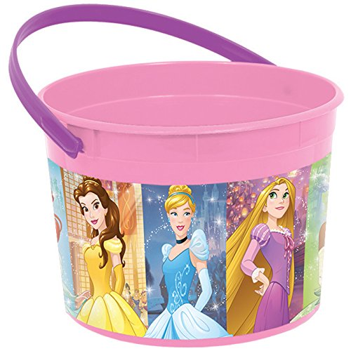Princess Bucket Set (Amscan Disney Princess Plastic Favor Container (Each) - Party Supplies)