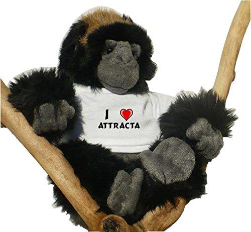 con Amo Attracta en la camiseta Gorila de peluche nombre de pila/apellido/apodo juguete