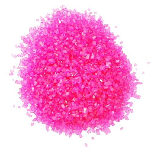 Dress My Cupcake DMC27069 Decorating Colored Sugar Crystals for Cakes, 4-Ounce, Pink ()