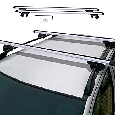 "Toolsempire 48"" Universal Aluminum Auto Suv Car Roof Top Rail Rack Luggage Cargo Cross Bar"