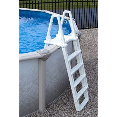 Blue Wave Martinique 21-Feet by 41-Feet Oval 52-Inch Deep 7-Inch Top Rail Metal Wall Swimming Pool Package : Garden & Outdoor