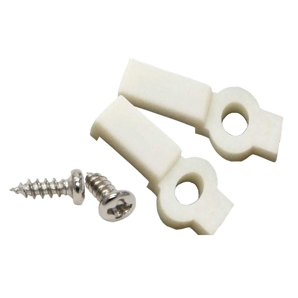 100 Pcs Strip Light Mounting Bracket Fixing Clip-One Side Fixing white Ideal for waterproof strip width 8mm with 100pcs Screws included FL-KZ-08-100WW
