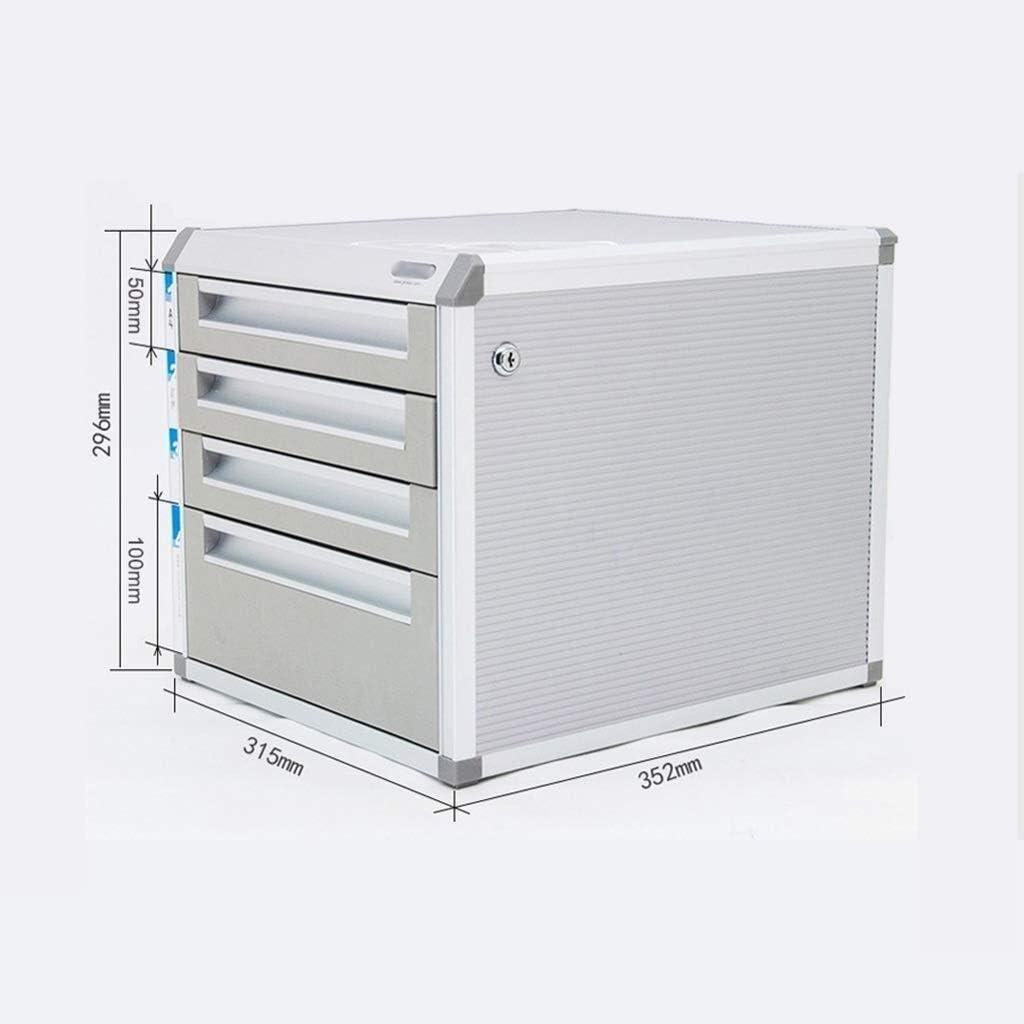 File cabinet File Cabinet Strong Collision Resistance Confidential Storage Lock Desktop Office Supplies Standard Desks Orderly Way Aluminum Alloy MDF Office Supplies