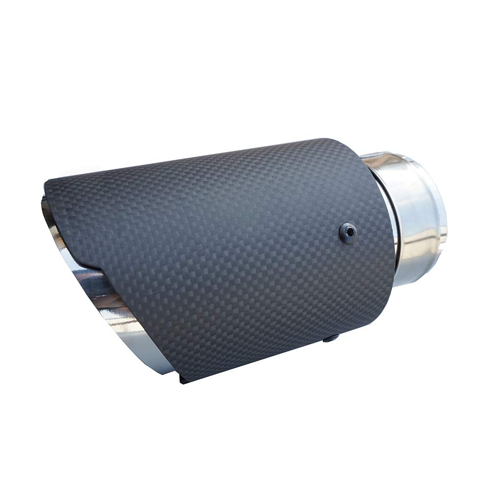 Inlet 54//57//60//63mm Outlet 89mm Inlet 60mm Outlet 89mm 3.5 Outlet matte Carbon Fiber Exhaust Pipe Muffler Tips-straight edge