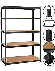 Yaheetech Rekken voor zware lasten 180 x 120 x 60 cm opslag rek 5 planken metalen plank max. belastbaarheid voor elk vak: 175kg